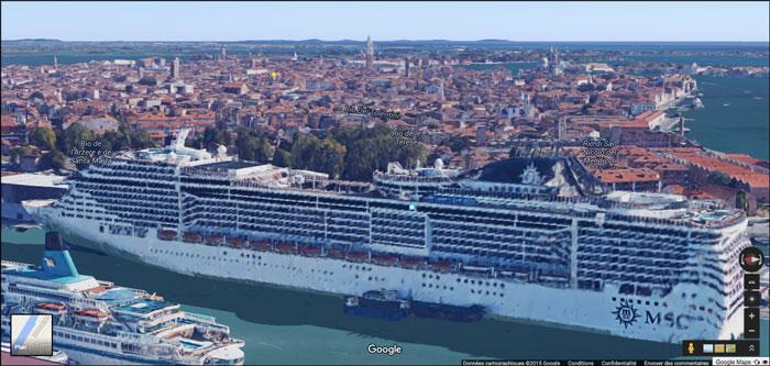 10 navires de croisi re vus du ciel images satellites et drones - Hotel venise port croisiere ...