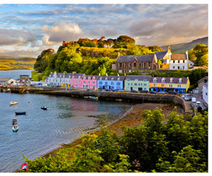 Portree, le pittoresque port d'Écosse